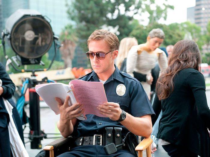 Sur le tournage de «Drive» (2011).