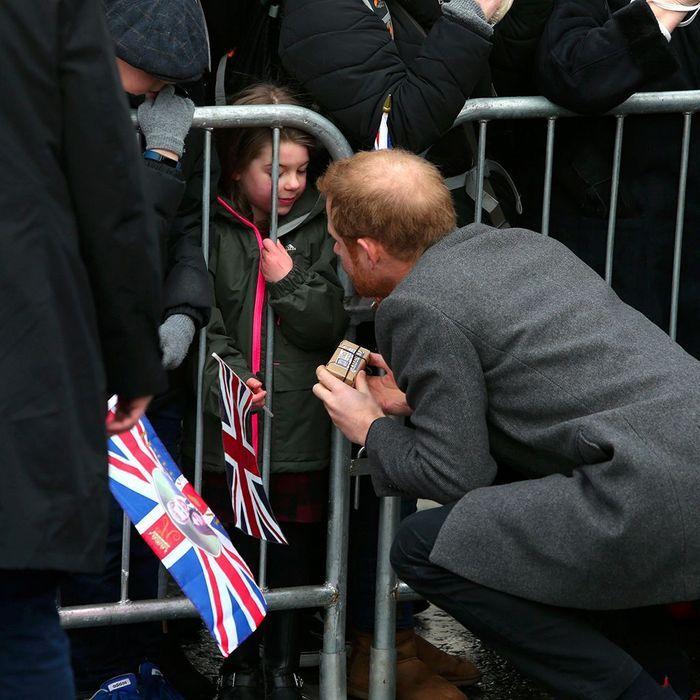 En pleine discussion avec une royal enthusiast