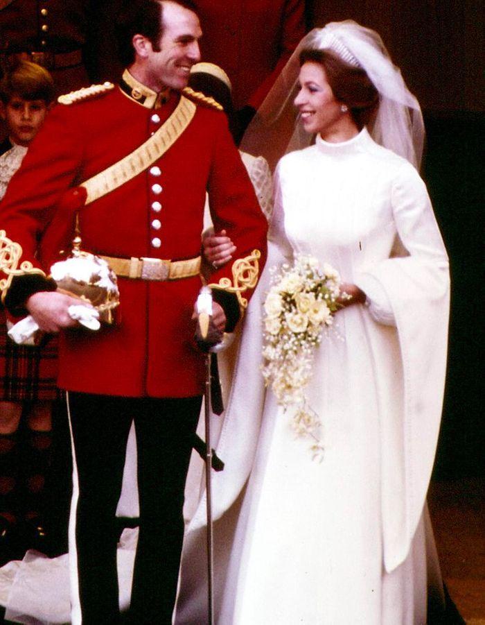 Le mariage de la princesse Anne et Mark Philips en 1973