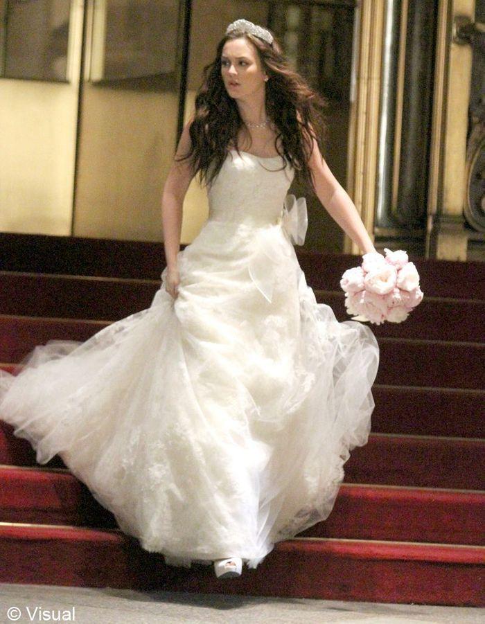 blair en robe de mari e gossip girl les looks