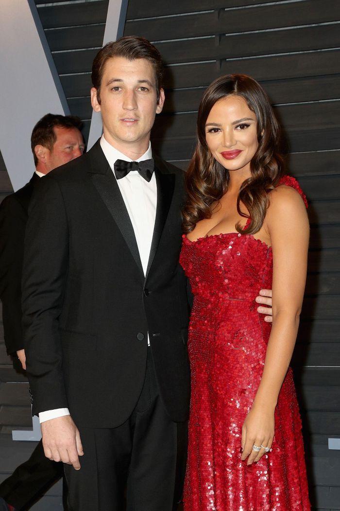 Miles Teller et Keleigh Sperry tous les deux en Valentino