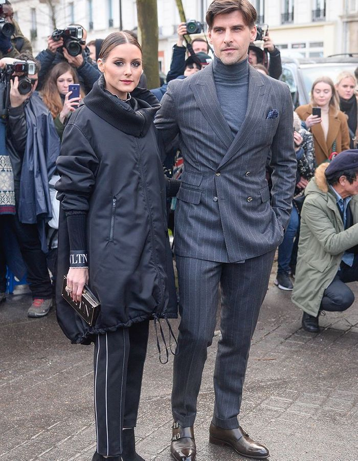 Olivia Palermo et Johannes Huebl au défilé Valentino