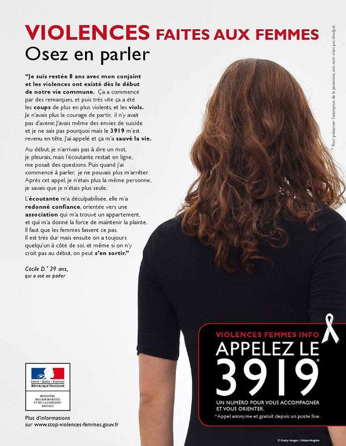 2011 67 affiches pour d noncer les violences faites aux femmes elle. Black Bedroom Furniture Sets. Home Design Ideas