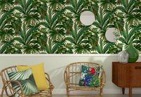 La tendance du jour : le papier peint tropical