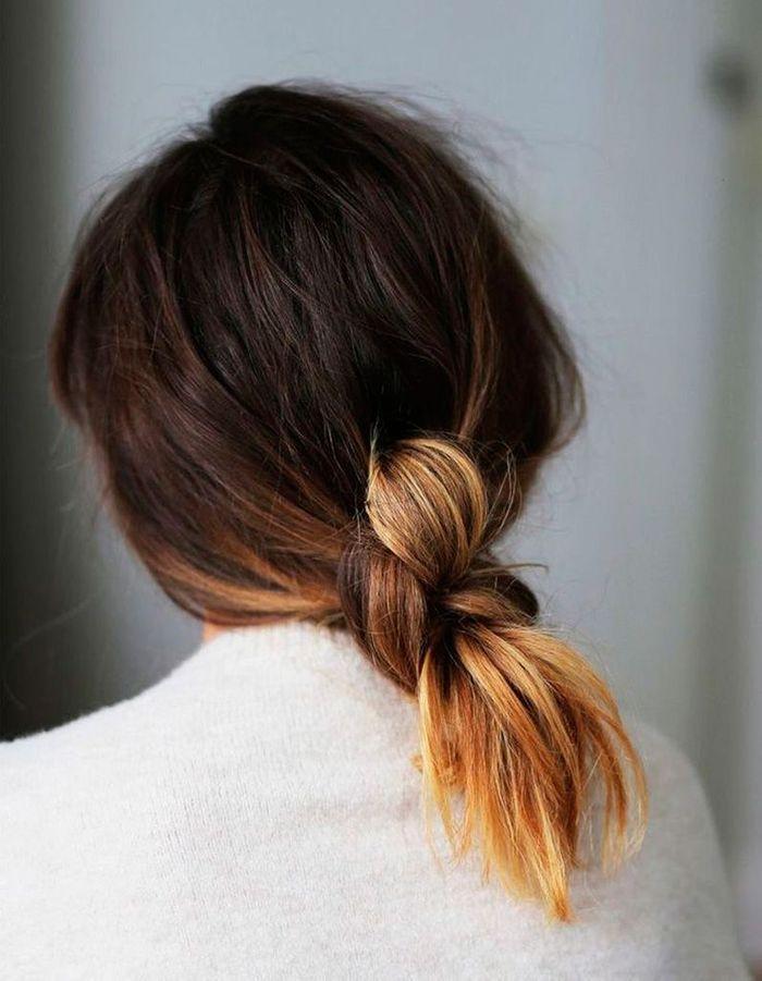 Coiffure simple cheveux mi-longs