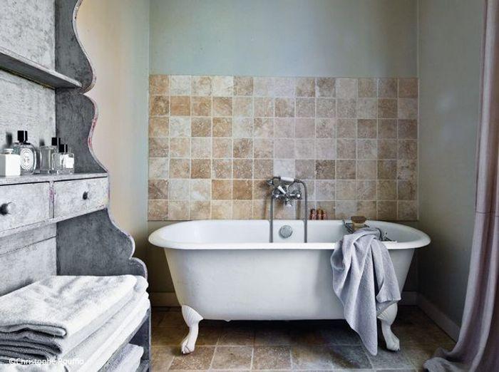Deco campagne deco recup salle de bains