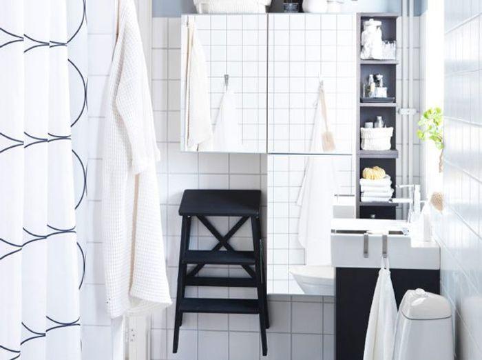 la salle de bains shabille en noir et blanc elle d233coration