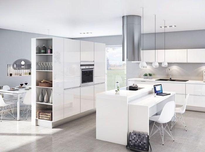 une transition id ale entre la cuisine et le salon elle d coration. Black Bedroom Furniture Sets. Home Design Ideas