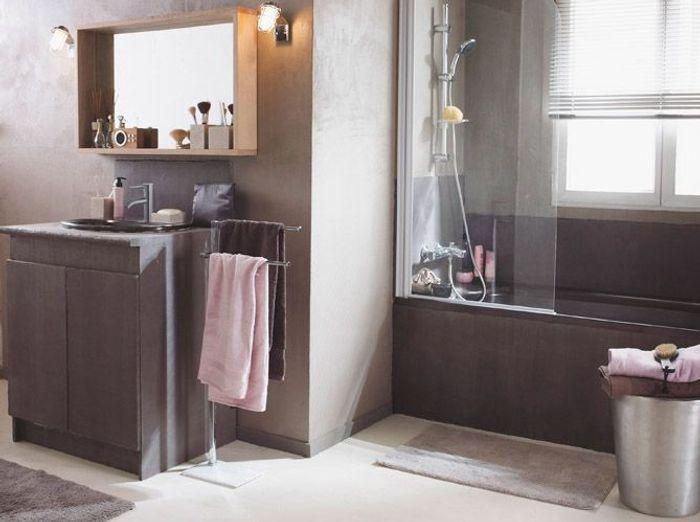 15 exemples pour accorder le taupe sa d co elle d coration for Salon de la salle de bain paris