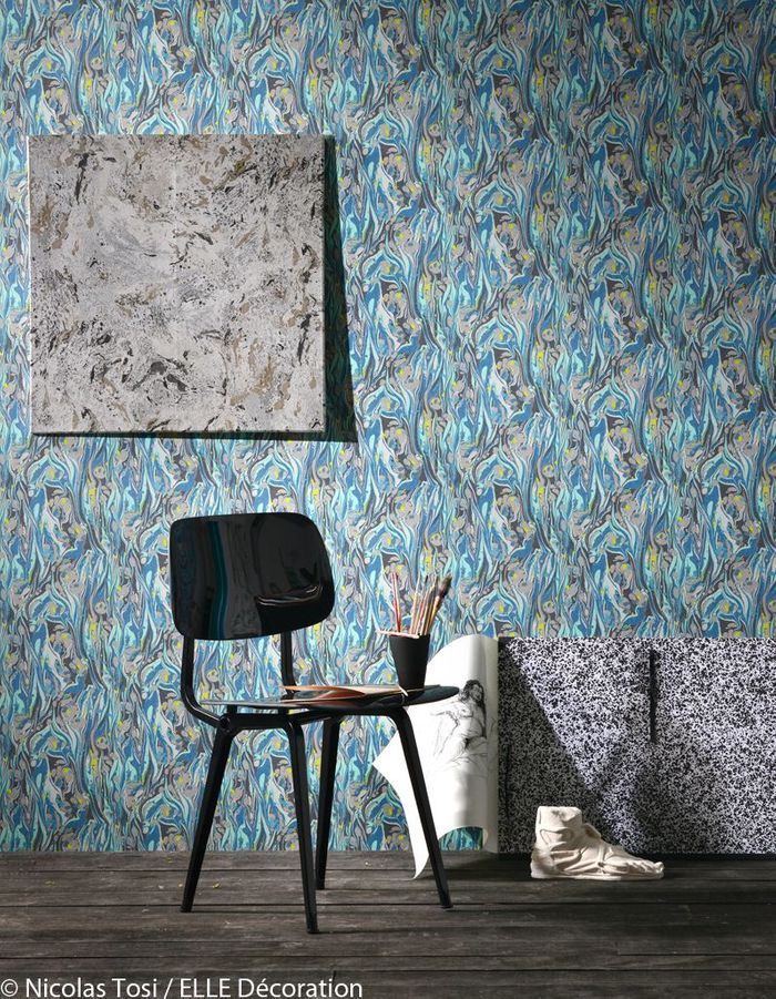 du papier peint comme un tableau elle d coration. Black Bedroom Furniture Sets. Home Design Ideas