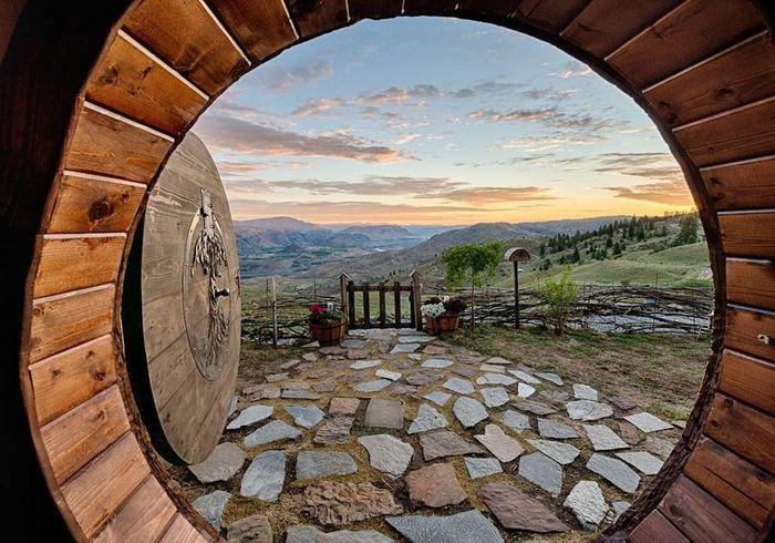 Une maison de hobbit à Orondo (Etats-Unis)