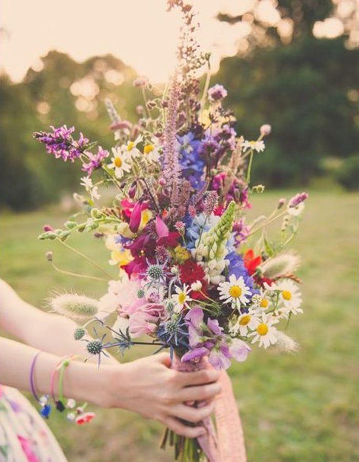 Meilleur de tous Bouquet de mariée fleurs des champs - 20 beaux bouquets de mariée  JM92